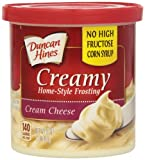 Duncan Hines Creamy Home-Style Frosting, Cream Cheese, 16 Ounce (Pack of 8)