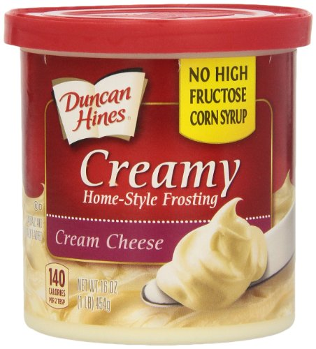 Duncan Hines Creamy Home-Style Frosting, Cream Cheese, 16 Ounce (Pack of 8) (Red Velvet Cupcakes With Cream Cheese Frosting)