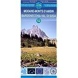 Carte de randonnée : Modane - Monts d'Ambin (bilingue Anglais-Allemand)