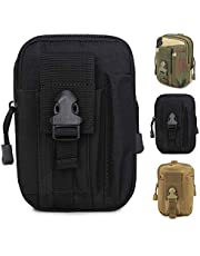 ZhaoCo Multi-Purpose Poly Tool Holder, Tactical Molle EDC Pouch Utility Gadget Belt Waist Bag with Cell Phone Holster for Sports Hiking Camping