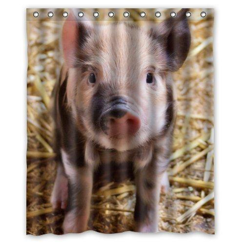 Prime Leader Cute Piglett Pattern,Lovely Litte Pig Art Polyester Fabric Custom Home Decor Shower Curtain 66