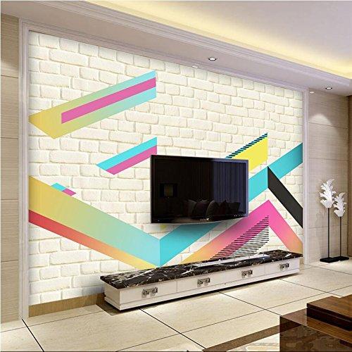 Mbwlkj カスタム 3 D のレンガの壁紙カラフルなウォールペーパーキッチン厚みエンボス加工された Non-Woven レストラン壁紙テレビの背景の台所のための -300Cmx210Cm B07DSSLJT8 300cmx210cm