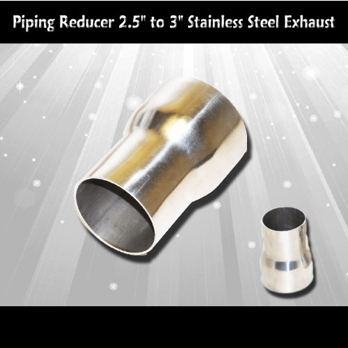 Amazon.com Stainless Steel Exhaust Piping Reducer 2.5  to 3  Automotive & Amazon.com: Stainless Steel Exhaust Piping Reducer 2.5