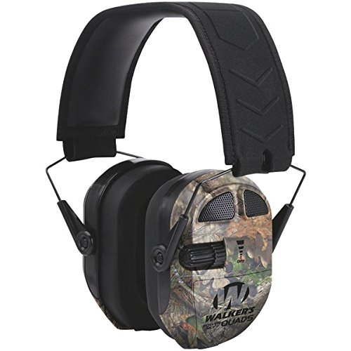 WALKER'S GAME EAR GWP-XPMQMO Ultimate Power Muff Quads (Mossy Oak(R)) PET2 (Quad Muffs Power Walkers)