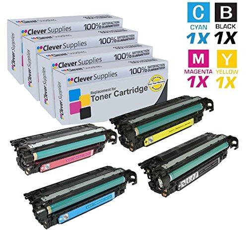 Laserjet 500 M575c Laser - CS Compatible for HP M570dn HP COLOR LaserJet PRO 500 M570 M570DN M570DW M551XH COLOR FLOW M575C CE400A Black CE401A Cyan CE402A Yellow CE403A Magenta Toner Cartridges 4 Color Set