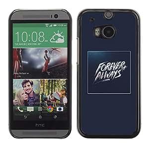 GOODTHINGS ( NO PARA HTC ONE MINI 2) Funda Imagen Diseño Carcasa Tapa Trasera Negro Cover Skin Case para HTC One M8 - siempre siempre oro azul Baywatch