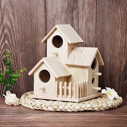 Iulove_Lawn & Garden Nest DOX Nest House Bird House Bird House Bird Box Bird Box Wooden Box