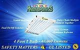 HydroLight High Output 4ft 8 Bulb T5 Florescent Grow Light Fixture 6400K 4X8 48 --P#EWT43 65234R3FA708995