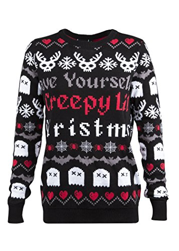 Too Fast Clothing Have Yourself Creepy Lil Christmas Ugly Christmas Sweater – Size Large ()