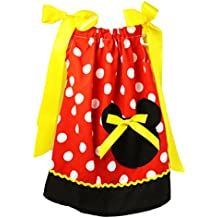 Wholesale Princess Black, Red and Yellow Minnie Pillow Case Dress