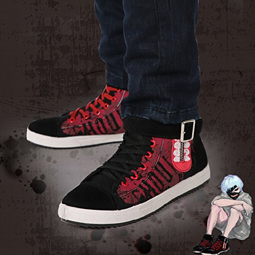 Amazon.com | Telacos Tokyo Ghoul Anime Ken Kaneki Cosplay Shoes Canvas Shoes Casual Shoes Sneakers | Fashion Sneakers