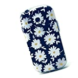Cuitan Durable TPU Soft Case Cover for Samsung Galaxy SIII Mini / S3 Mini i8190, Premium Quality Anti-scratch Back Cover Fashionable Protective Case Cover Shell Sleeve - White Chrysanthemum