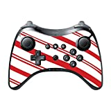 Christmas Red Candy Cane Wii U Pro Controller Vinyl Decal Sticker Skin by Moonlight Printing