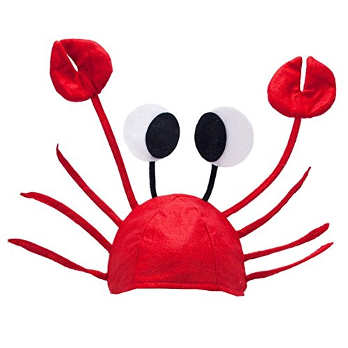 Crab Hat - Crawfish Hat - Fish Hat - Lobster Hat - Crab Costume by Funny Party (Funny Crab)