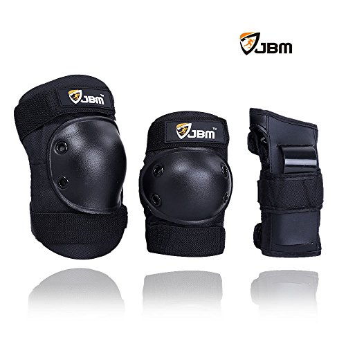 JBM Kids Child Knee Pads Elbow Pads Wrist Guard Brace Support Sports Protective Gear Set for Scooter Biking Cycling