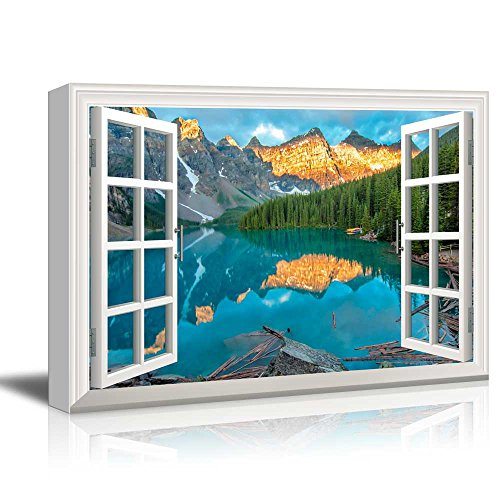 Window View Nature Landscape with Lake and Forest in Mountains Gallery