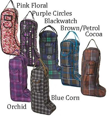Centaur Classic Lined Blackwatch Plaid Tall Boot Carry Bag, One Size