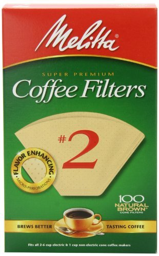 Melitta Cone Coffee Filter #2 100 Count- Natural Brown (Melitta Coffee Machine)