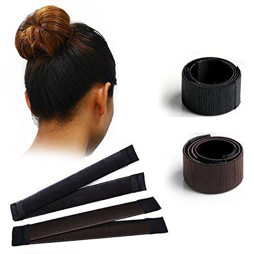 SEXAY Magic DIY Bun Maker Hairstyle Clip Shapers Hair Accessories 2pcs Black/Dark Brown