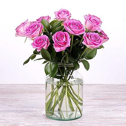 Fiori 24 Ore.Fiori Freschi Florachic 12 Rose Rosa Invio Gratis In 24 Ore