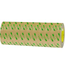 """Partners Brand PT96124671PK Clear 3M 467MP Adhesive Transfer Tape, Hand Rolls, 60 yd. Length, 12"""" Width"""