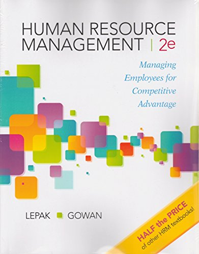 Human Resource Management: Managing Employees for Competitive Advantage