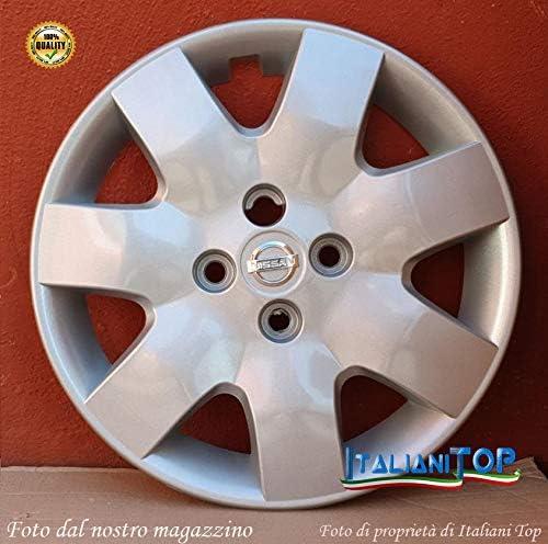 Generico Nissan MICRA COPRICERCHI Borchie Diametro 15 CODICE 6501//5 dal 2003 al 2010 4 Quattro