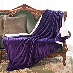 HoroM Soft Cozy Fluffy and Warm Sherpa Blanket Throw Blankets for Bed or Couch