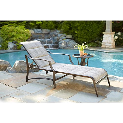 Hampton Bay Statesville Padded Patio Chaise Lounge for sale  Delivered anywhere in USA