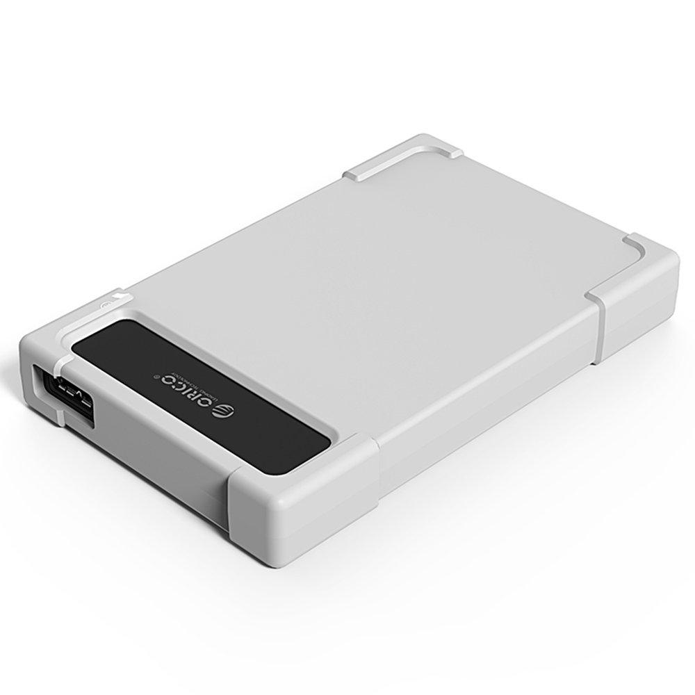 Orico 28UTS-U3-GY USB 3.0 Adaptador de disco duro SATA / gabinete con funda de silicona para 2, 5 pulgadas SATA III HDD y SSD