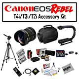 Deluxe Accessory Kit for Canon EOS Rebel T2i T3i T4i T5i 550D 600D 650D 700D Kiss X4 X5 X6 X6i X7i DSLR Digital Camera with Opteka 6.5mm f/3.5 Fisheye Lens, Two (2) Pack of Opteka LP-E8 LPE8 Extended Battery Pack, Two (2) Pack of 32GB SDHC High Speed Memo