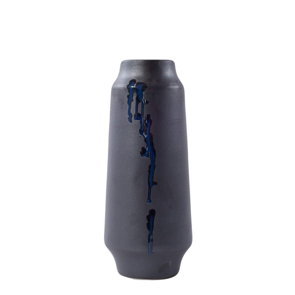 LIULIJUN 花瓶現代の新しい中国のセラミック花瓶リビングルームのテーブルシンプルなワインキャビネット茶室の装飾禅フラワーアレンジメントポーチ装飾 (Size : L) B07T7DHX51  Large