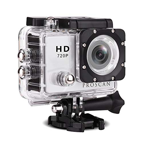 """Proscan Action Camera Underwater Waterproof 30M Camera with 2"""" LCD Wide Angle View 720P HD Sports Action Camera"""
