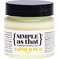 Simple As That Baby Organic Vapour Rub 50 g, 50 milliliters