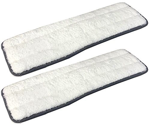 Cleantec Magic Flat Mop Microfiber Machine Washable Refill Pads, 2 Count