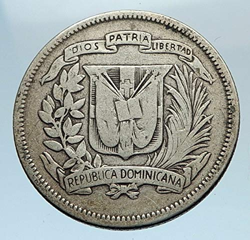 1947 unknown 1947 DOMINICAN REPUBLIC AR Liberty LIBERTO Arms A coin Good Uncertified