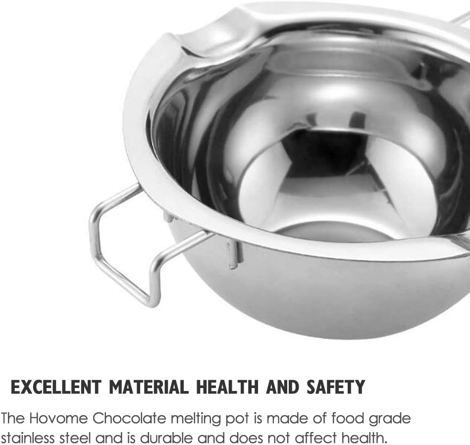 ROARINGWILD Chocolate Melting Pot Stainless Steel Double Boiler Pot for Melting Candy Baking Heating Melting Bowl Baking Tools Baking Beginners and Cake Lovers