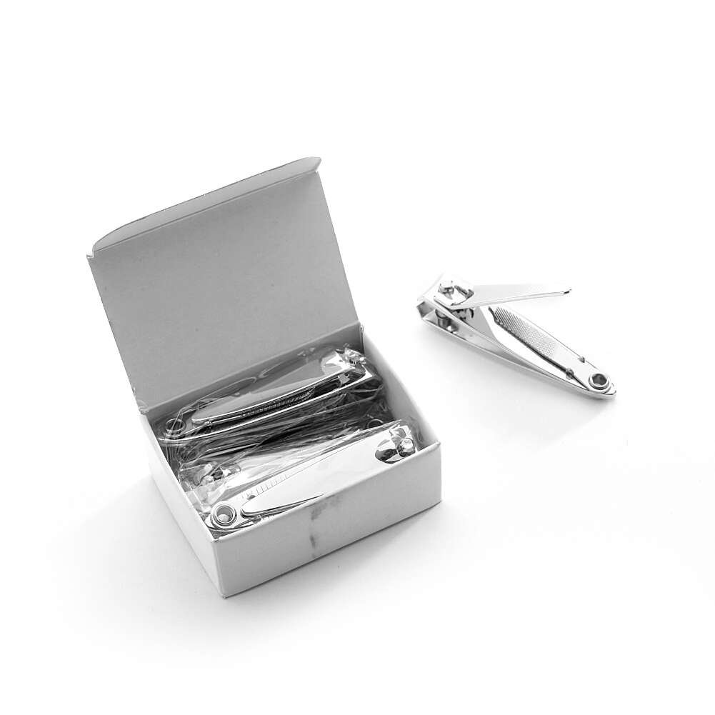 MediChoice Finger Nail Clippers, With File, Stainless Steel (Box of 6)