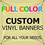 6'x17' Custom Full Color Vinyl Banners Indoor/Outdoor Personalized Banners with Grommets Custom Vinyl Party/Birthday Banner with True Solvent Ink Signs by BannerBuzz