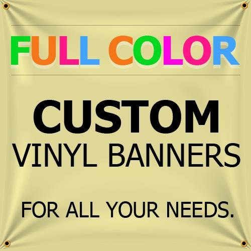 NEW 6'x25' Custom Full Color Vinyl Banners Indoor/Outdoor Personalized Banners with Grommets Custom Vinyl Party/Birthday Banner with True Solvent Ink Signs by BannerBuzz by BannerBuzz