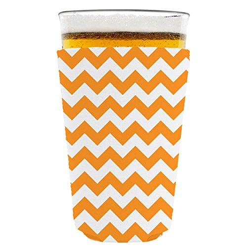 Coolie Junction Chevron Stripe Pint Glass Coolie Orange