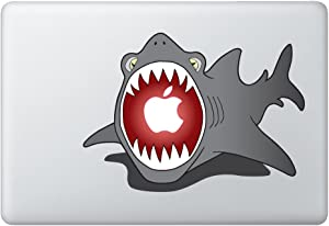 "Shark Eating Apple Vinyl Decal/Sticker, Fits 11""/13"" Air and 13""/15"" MacBooks"
