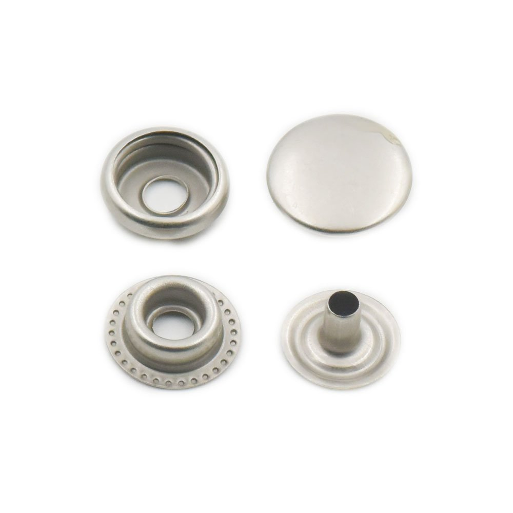 Fujiyuan 30 pcs 12mm 1//2 Sewn Buckle Metal Snap Fastener Leather craft Rapid Rivet Button Setting Sewing Gray Silver