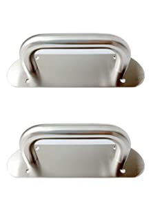 VRSS 2Pcs 200mm Long Stainless Steel Pull Door Handle Plate Durable and Lightweight Promotion Price