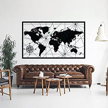 World map metal wall art decor handmade decorative world map wall world map metal wall art decor handmade decorative world map wall art metal poster adventurer gifts gumiabroncs Image collections
