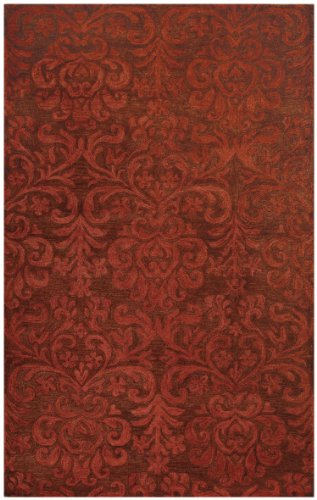 Capel Rugs Williamsburg Lace Rectangle Hand Tufted Area Rug, 5' x 8', Brick ()