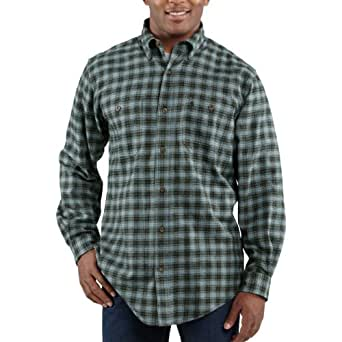 Carhartt Men's Trumbull Midweight Plaid Shirt Closeout Pricing 3Xlarge Tall Infantry Blue