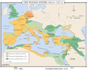 Universal Map World History Wall Maps Growth Of Roman