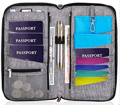 Valante Premium Family Travel Document Organizer Capacious RFID Passport Holder Wallet (Large)