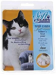 Amazon Com Feline Soft Claws Nail Caps Kitten Clear